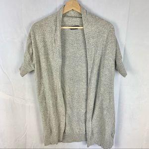 BCBGMAXAZRIA angora cashmere short sleeve cardigan